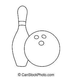 Bowling icon outline. Single sport icon from the big...