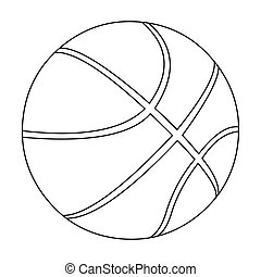 Basketball icon outline. Single sport icon from the big...