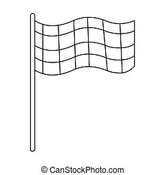 Checkered flag icon outline. Single sport icon from the big...