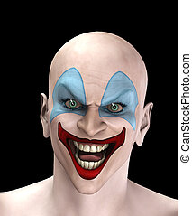 Evil Halloween Clown - An very evil looking clown for...