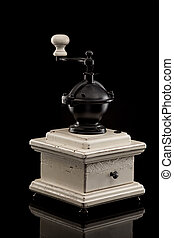 old hand coffee grinder - The old hand coffee grinder on...