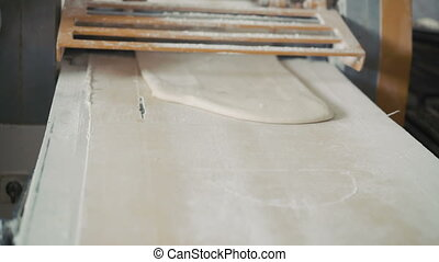 Preparation of the puff dough in bakery 4K.