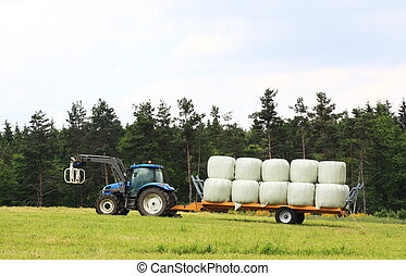 Agriculture - Collecting Hay Bales