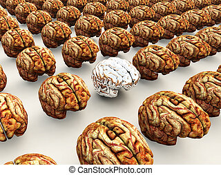 Odd Brain Out - Concept image about thinking differently to...