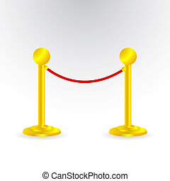 Rope barrier Illustrations and Clip Art. 610 Rope barrier ...