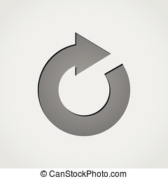 reload grey icon - Illustration of reload grey icon