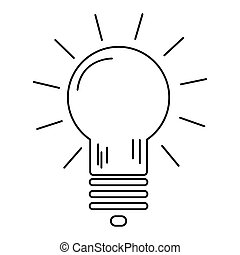 Modern thin line icon burning light bulb as the emergence of...