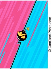 Versus Element Template 1 - Vector Illustration of Fight...