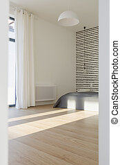 Spacious rom with wooden parquet - Spacious empty simple rom...