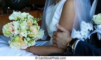 wedding theme, holding hands newlyweds Ukraine