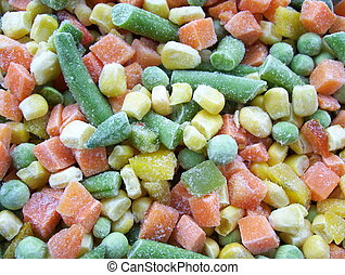 colorful vegetables food - Frozen vegetables close up...