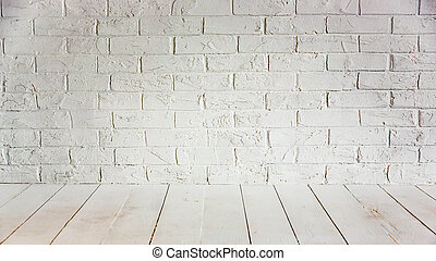 Home renovation concept - White wall and floor. Home...