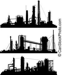 Silhouettes of units for industrial zone.