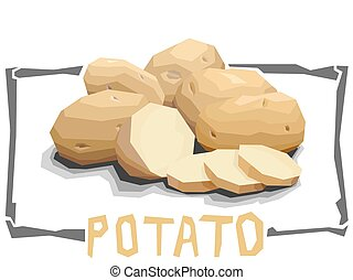 Vector simple illustration of potatoes. - Vector simple...