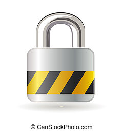 Lock isolated on white background