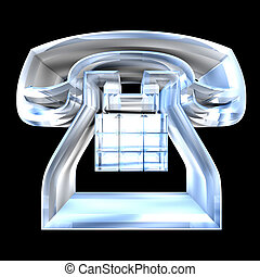 phone symbol in glass - 3D