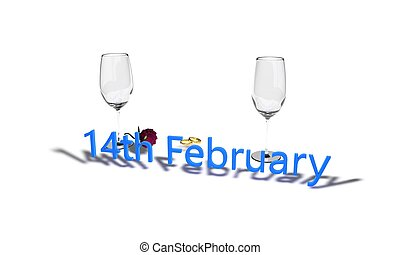 14th February. Valentine's Day