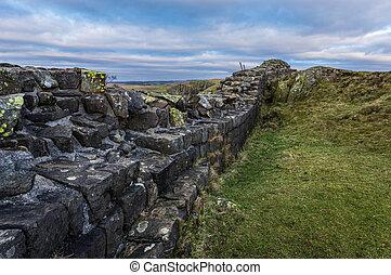 Hadrian's Wall, Northumberland - Hadrian's Wall at Walltown...