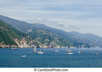 Boats and yachts in Liguria sea, Italy - Boats and yachts in...