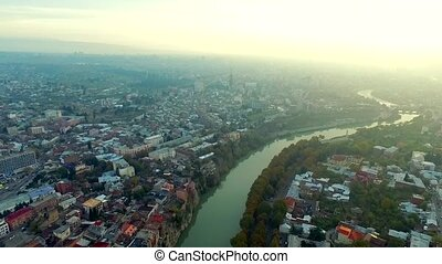 Vibes of Tbilisi, Georgia, aerial - Vibes of the big city of...