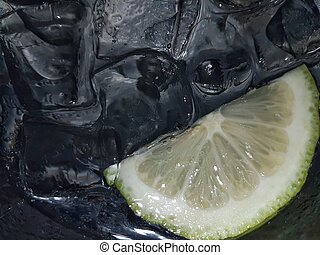 Black Ice and lemon - Black ice and lemon in a drink