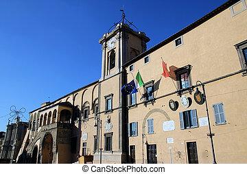 tarquinia, Palazzo Comunale, Italy - Palazzo Comunale, town...