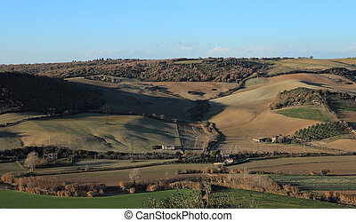 Tarquinia viewpoint on the country side - view of the...