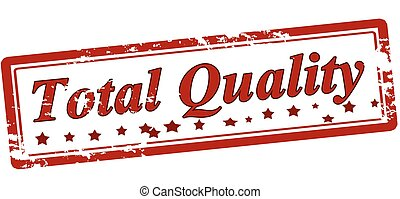 Total quality - Stamp with text total quality inside, vector...