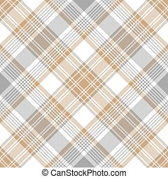Platinum gold tartan diagonal seamless pattern