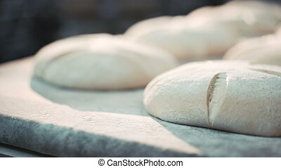 Process of baking breads in bakery