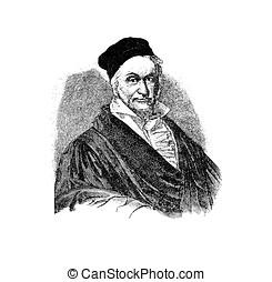 Johann Carl Friedrich Gauss,  German mathematician  engraving portrait