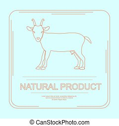 Logotype of natural product in modern thin line design....