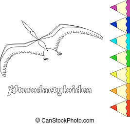 dinosaur pterodactyloidea coloring page