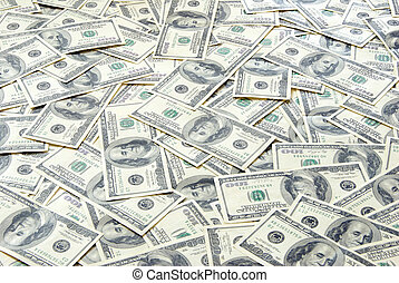 money - Background with money american hundred dollar bills...