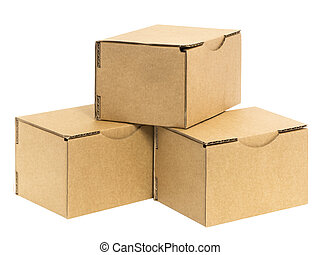 three stacked boxes