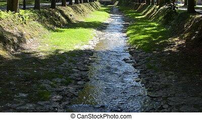 River in Vrnjacka Banja - Small river in Vrnjacka Banja town...