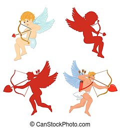 set of cupid. Valentine's Day