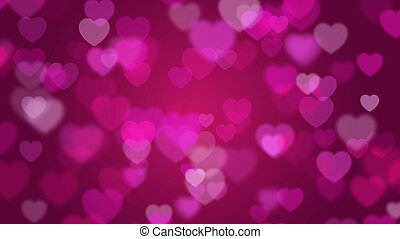 illustration of Valentine's day pink background with hearts