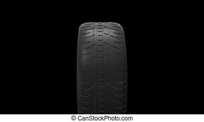 black isolation rubber tire, on the white backgrounds HD