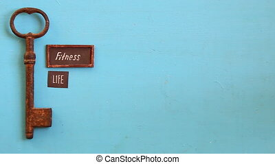 fitness is life art background - fitness is life concept,...