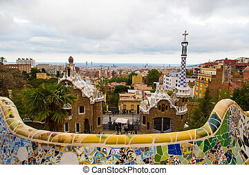 Magic wonderful gardens in Barcelona