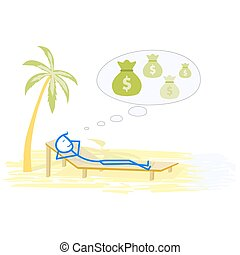 Relax - Successful man relaxing on the beach - concept...
