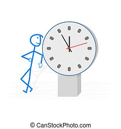 Time is money -  concept vector illustration