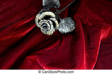 metal rose, hand made by a blacksmith