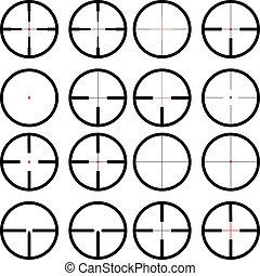 reticule,reticule set, - reticule, viewfinder, target...