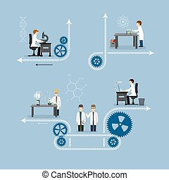 Illustration of the laboratory - Vector illustration of a...