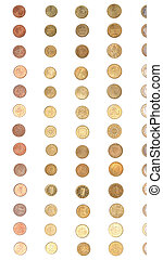 Euro coin money - vertical - Euro coins including both the...