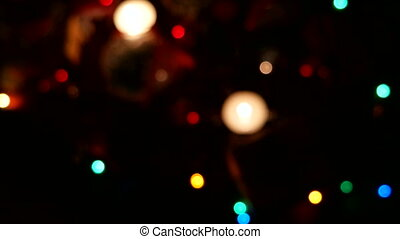Christmas and New year background with presents, lights,...