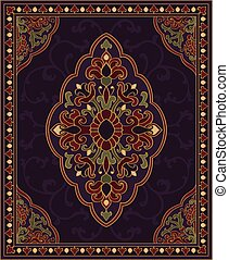 Purple template for carpet. - Oriental abstract ornament....