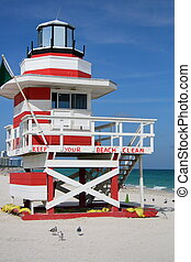 Lifeguard station - Colorful lifeguard station in South...